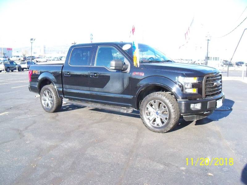2016 FORD F-150 XLT 4X4 4DR SUPERCREW 55 FT SB black xlt  sport fx-4 package  wlow miles heat