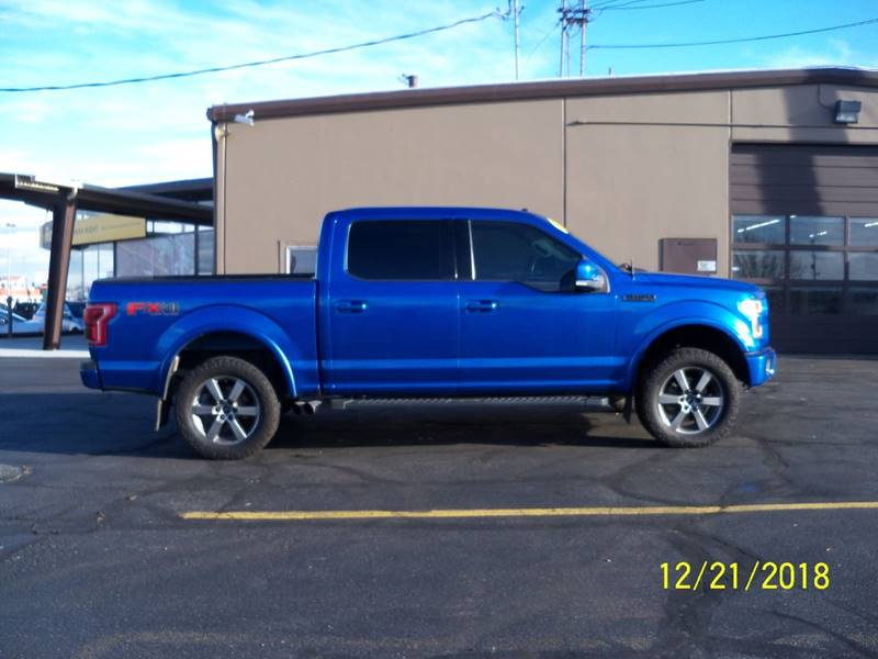 2015 FORD F-150 LARIAT 4X4 4DR SUPERCREW 55 FT blue loaded wremote start heated steering whe