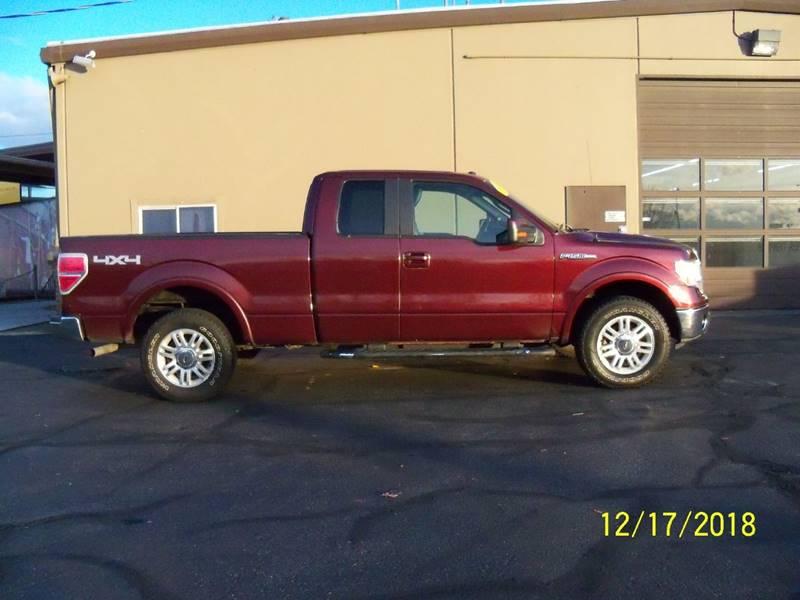 2009 FORD F-150 LARIAT 4X4 4DR SUPERCAB STYLESID maroon nice lariat wheated  cooled perforated l