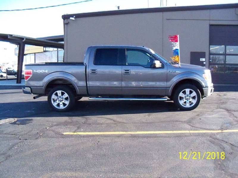 2011 FORD F-150 LARIAT 4X4 4DR SUPERCREW STYLESI gray this well equipped lariat wdual power heate