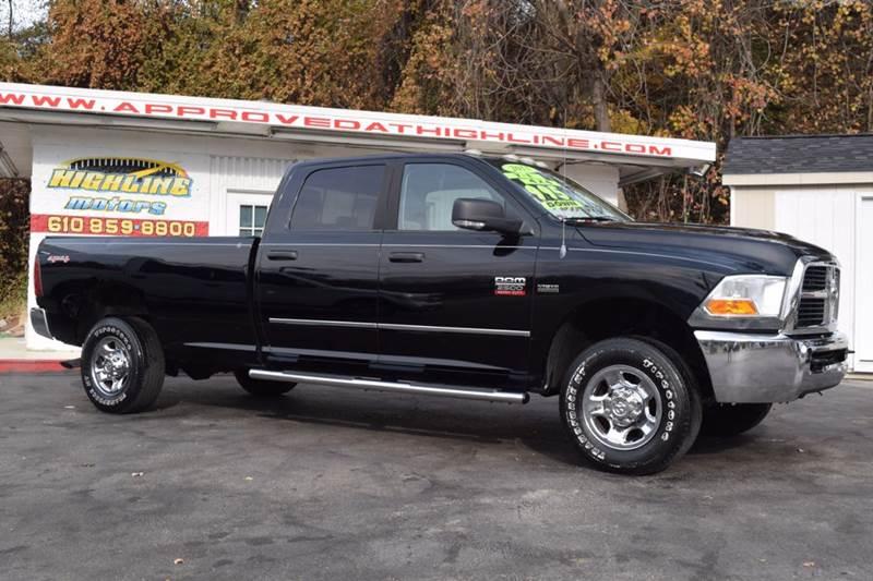 2011 ram ram pickup 2500 slt 4x4 4dr crew cab 8 ft lb for Highline motors aston pa