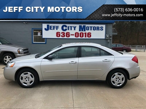 2006 Pontiac G6 for sale at JEFF CITY MOTORS in Holts Summit MO