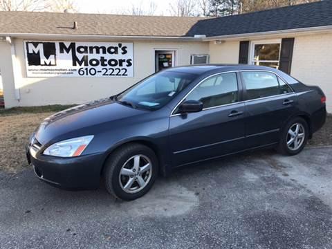 2003 Honda Accord for sale at Mama's Motors in Greer SC