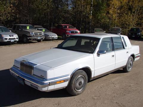 1991 Chrysler New Yorker for sale in Kelliher, MN