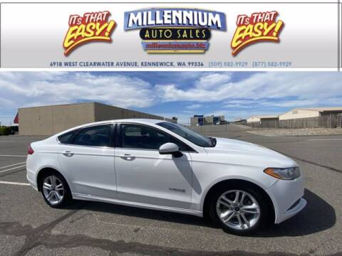 2018 Ford Fusion Hybrid for sale at Millennium Auto Sales in Kennewick WA