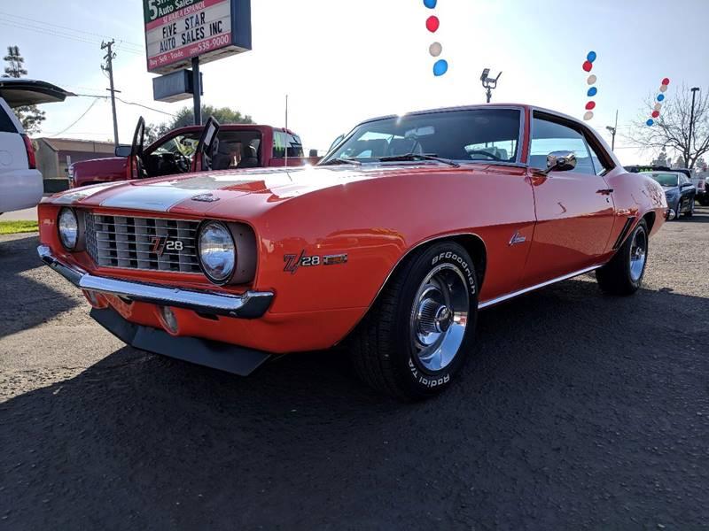 1969 Chevrolet Camaro for sale at 5 Star Auto Sales in Modesto CA