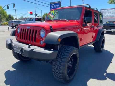 2017 Jeep Wrangler Unlimited for sale at 5 Star Auto Sales in Modesto CA