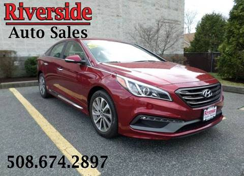 2015 Hyundai Sonata for sale at RIVERSIDE AUTO SALES INC in Somerset MA