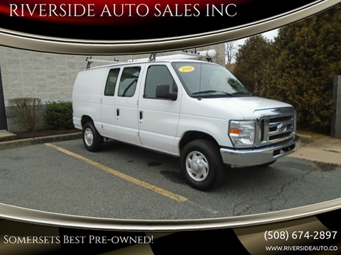 2014 Ford E-Series Cargo for sale at RIVERSIDE AUTO SALES INC in Somerset MA