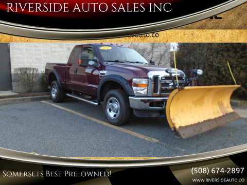 2008 Ford F-350 Super Duty for sale at RIVERSIDE AUTO SALES INC in Somerset MA