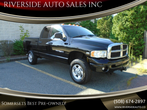 2004 Dodge Ram Pickup 2500 for sale at RIVERSIDE AUTO SALES INC in Somerset MA