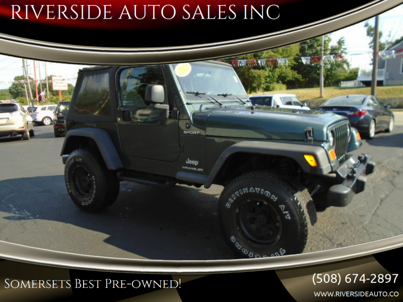 2003 Jeep Wrangler for sale at RIVERSIDE AUTO SALES INC in Somerset MA