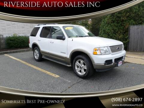 2004 Ford Explorer for sale at RIVERSIDE AUTO SALES INC in Somerset MA