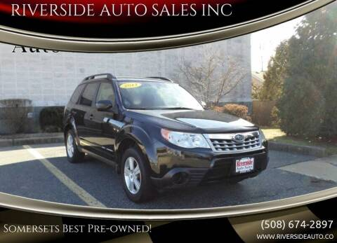 2011 Subaru Forester for sale at RIVERSIDE AUTO SALES INC in Somerset MA