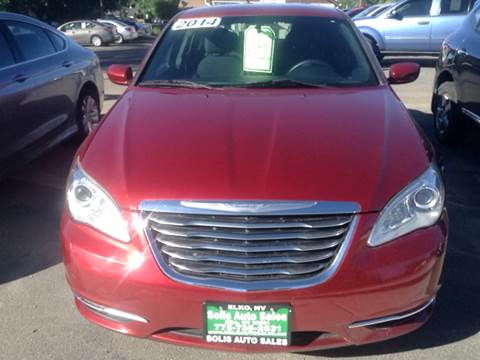 2014 Chrysler 200 for sale at SOLIS AUTO SALES INC in Elko NV