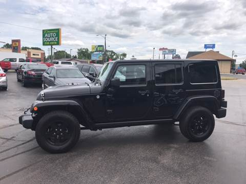 2015 Jeep Wrangler Unlimited for sale at Premier Auto Source INC in Terre Haute IN