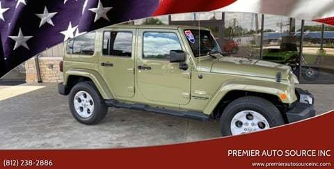2013 Jeep Wrangler Unlimited for sale at Premier Auto Source INC in Terre Haute IN