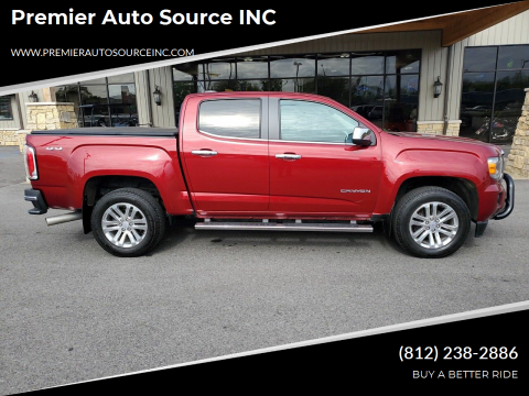 2018 GMC Canyon for sale at Premier Auto Source INC in Terre Haute IN