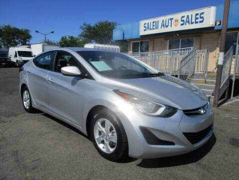 2015 Hyundai Elantra for sale at Salem Auto Sales in Sacramento CA
