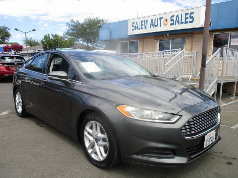 2016 Ford Fusion for sale at Salem Auto Sales in Sacramento CA
