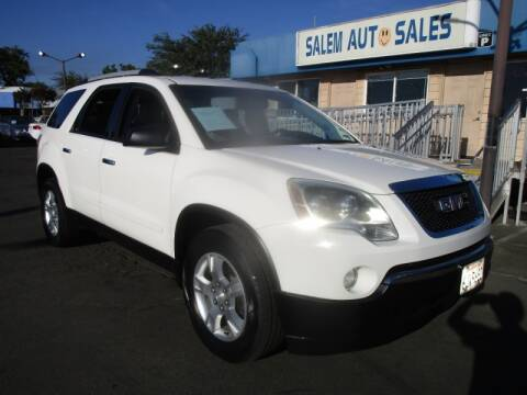 2011 GMC Acadia for sale at Salem Auto Sales in Sacramento CA