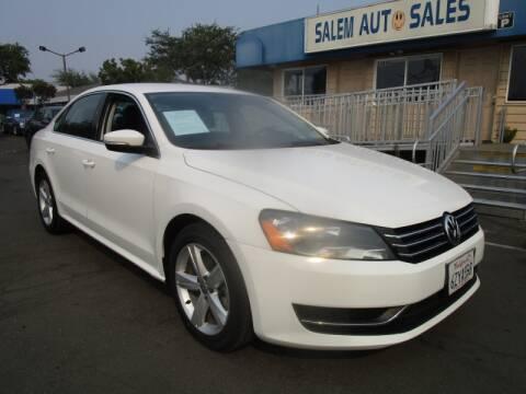 2013 Volkswagen Passat for sale at Salem Auto Sales in Sacramento CA