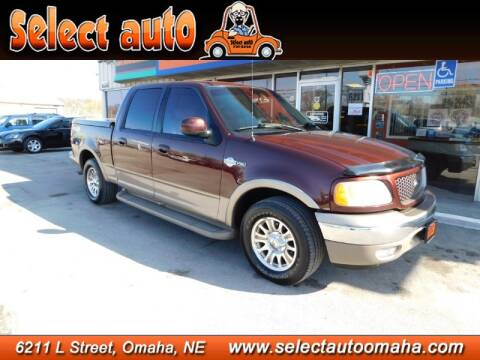 2001 Ford F-150 King Ranch for sale at Select Auto in Omaha NE