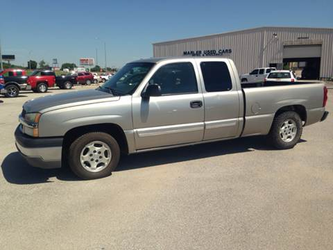 2003 Chevrolet Silverado 1500 for sale at MARLER USED CARS in Gainesville TX