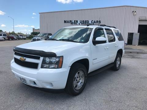 2012 Chevrolet Tahoe for sale at MARLER USED CARS in Gainesville TX