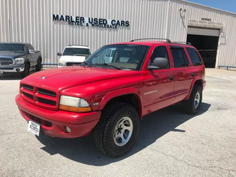 1999 Dodge Durango for sale at MARLER USED CARS in Gainesville TX