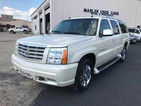 2003 Cadillac Escalade ESV for sale at MARLER USED CARS in Gainesville TX