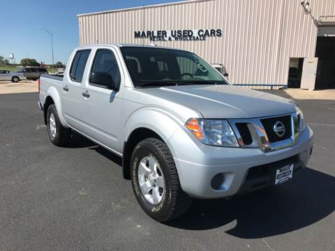 2012 Nissan Frontier for sale at MARLER USED CARS in Gainesville TX