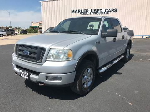 2004 Ford F-150 for sale at MARLER USED CARS in Gainesville TX