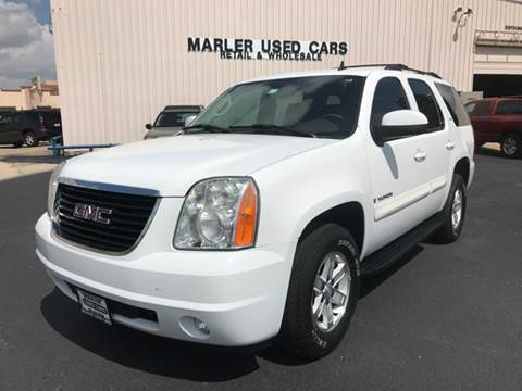 2008 GMC Yukon for sale at MARLER USED CARS in Gainesville TX