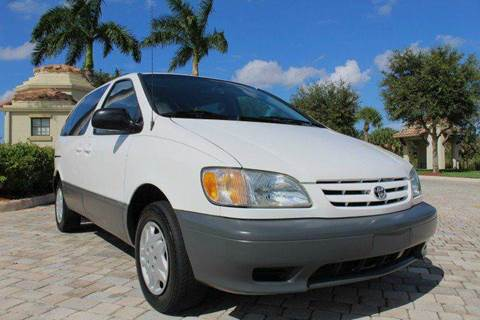 2002 Toyota Sienna for sale at LIBERTY MOTORCARS INC in Royal Palm Beach FL
