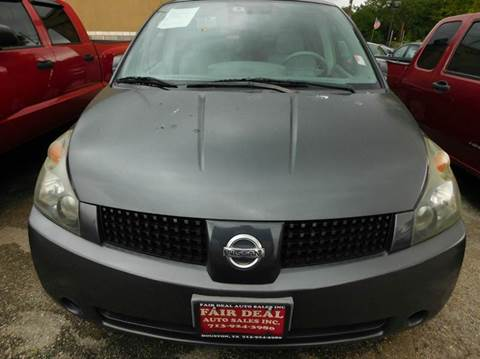 2005 Nissan Quest for sale at FAIR DEAL AUTO SALES INC in Houston TX