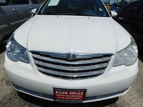 2008 Chrysler Sebring for sale at FAIR DEAL AUTO SALES INC in Houston TX