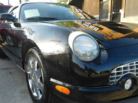 2002 Ford Thunderbird for sale at FAIR DEAL AUTO SALES INC in Houston TX