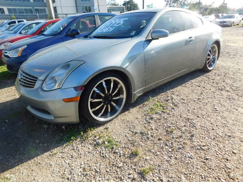 2004 Infiniti G35 for sale at FAIR DEAL AUTO SALES INC in Houston TX