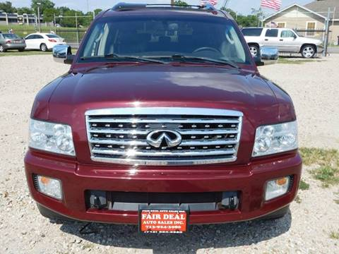 2009 Infiniti QX56 for sale at FAIR DEAL AUTO SALES INC in Houston TX
