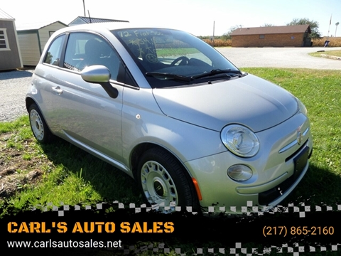 2012 FIAT 500 for sale at CARL'S AUTO SALES in Boody IL