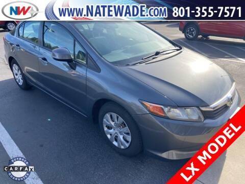 2012 Honda Civic for sale at NATE WADE SUBARU in Salt Lake City UT