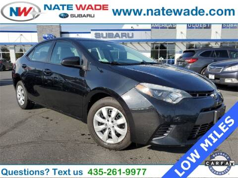 2015 Toyota Corolla for sale at NATE WADE SUBARU in Salt Lake City UT