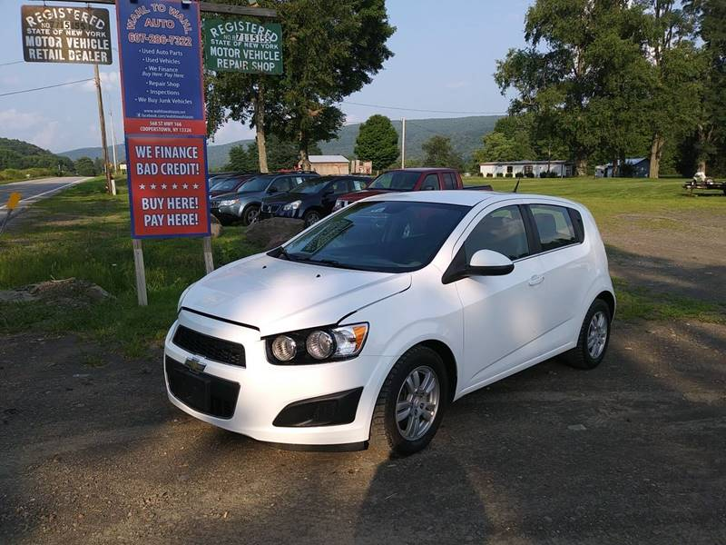 2012 Chevrolet Sonic For Sale At Wahl To Wahl Auto In Cooperstown NY