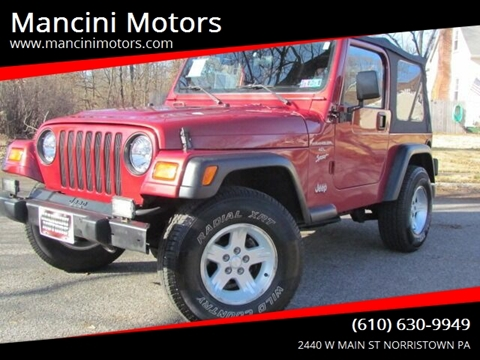 1999 Jeep Wrangler Sport for sale at Mancini Motors in Norristown PA