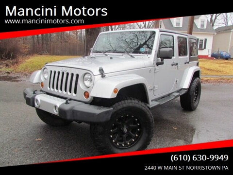 2012 Jeep Wrangler Unlimited Sahara for sale at Mancini Motors in Norristown PA
