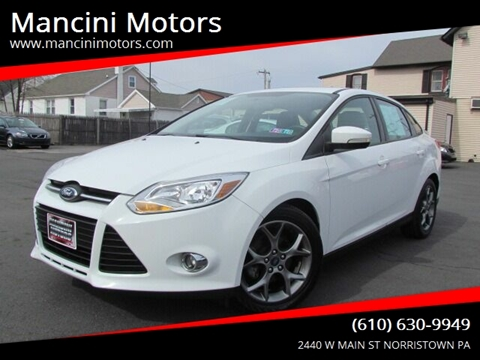 2013 Ford Focus SE for sale at Mancini Motors in Norristown PA