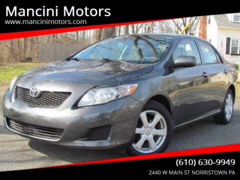2009 Toyota Corolla LE for sale at Mancini Motors in Norristown PA