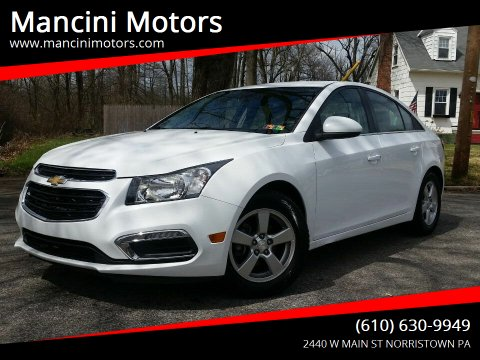 2016 Chevrolet Cruze Limited 1LT Auto for sale at Mancini Motors in Norristown PA