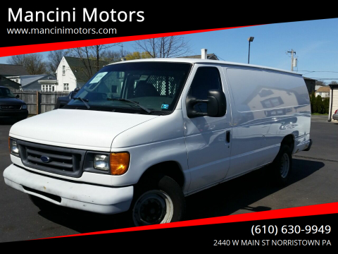 2007 Ford E-Series Cargo E-350 SD for sale at Mancini Motors in Norristown PA